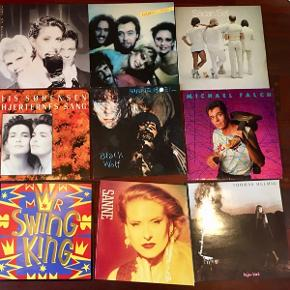 LPer 25 kr stykket vinylplader plader på vinyl 5 for 100 mange forskellige. Spørg!