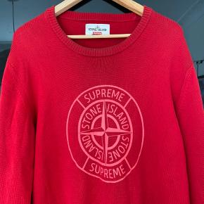 Udsolgt over alt 501S7 COMPASS PIN SWEATER Stone x Supreme