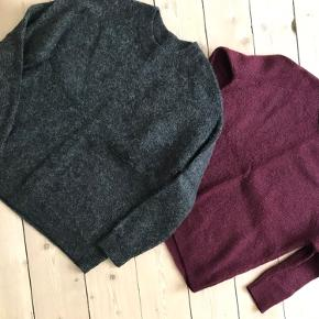 Envii enbobo knit striktrøje, mørkegrå str. M, Bordeaux str. S. Brugt men i rigtig fin stand. 100kr/stk. Kan sendes med DAO for 40kr.