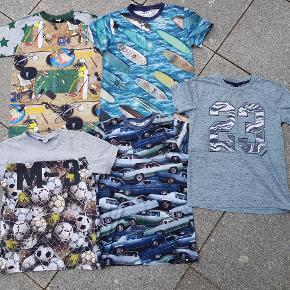 Molo , Hummel T-shirts de 3 t-shirts brugt 1-2 gange den med skole brugt 3-4 gange  Den med Suefer er solgt så de andre samlet 300kr
