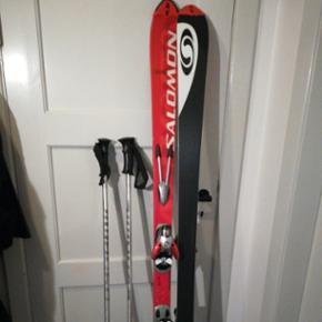 Fuld skissæt, med stave og ski pose Mærke Salomon