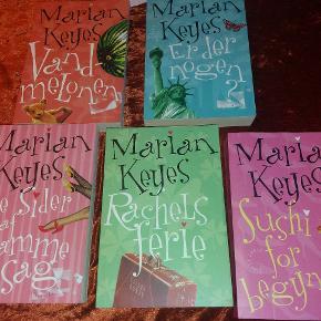 5 Marian Keyes bøger- paperback Vandmelonen Er der nogen? Tre sider af samme sag Rachels ferie Sushi for begyndere  Bogpakke til ferien