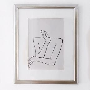 Håndtegnet acryl plakat. Minimalistisk og moderne kunst. Skriv for interesse - sælger denne og lignende kunst 😊