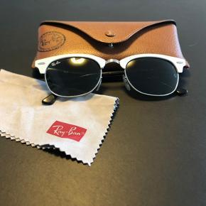 Ray Ban solbriller, model Clubmaster med hvidt stel