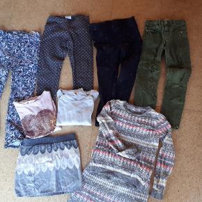 2 nederdele, 3 bluser og 4 par bukser. Benetton, Zara og H&M.  Samlet pris Porto 45kr