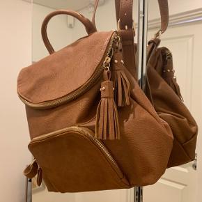 Flot brun taske, aldrig brugt