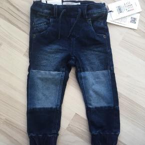 Bløde denim bukser str 80.  Ny pris 230kr sælges for kun 100kr.