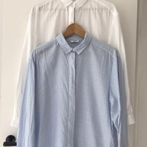 Hvid skjorte + Lyseblå/hvid stribet.  75 kr. pr. Stk. 125 kr. for dem begge.