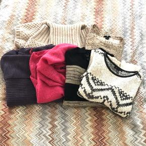 Lots of knitwear from mango, Zara hm, Gina tricot in very good condition. Sizes differ but fit size small. Check the listings below for more info. 480 kr for 8 pieces🤩 the pink one is sold. 400 for 7 pieces👍🏼