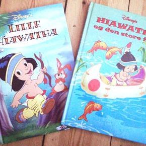 To bøger fra Walt Disney  Lille Hiawatha Hiawatha og den store fisk Brugt få gange og i fin stand Porto 37 kr