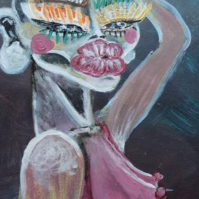 Originalt maleri.  Ramme medfølger ikke.  24x18  Afhentes på Christianshavn 📍