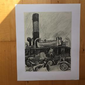 Reproduktion af tegninger af Robert Jensen  Størrelse: B: 30 cm.  H: 36 cm.   Signeret i trykket  Sender gerne 👀  Se også mine andre annoncer med kunst af anerkendte kunstnere. Jeg tilbyder også professionel indramning til gode priser.   Masser af kunst på lager.