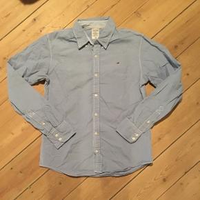Blå hvid ternet skjorte fra Hilfiger