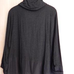Carla du Nord tunika bluse 44, koksgrå, bom/viscose/uld mix, brugt men i meget pæn stand