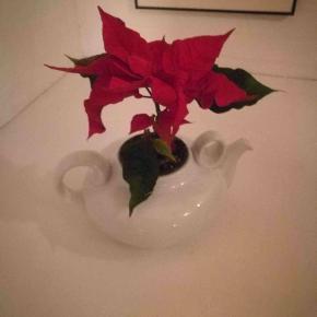 """RØVERKØB!!! Utrolig flot vase eller tekande fra B&G Tevarmer eller lysholder fra Søholm, som jo er købt af B&G Kanden designet af Edith Sonne Bruun (1910-1993), i hvidglaseret porcelæn. Hank og """"øre"""" i elegant skulpturel form, der understreger kandens klassiske proportioner.  Edith blev uddannet på kunsthåndværkerskolen og arbejdede på - Saxbo 1931-34, 1938-39 og 1946-61 - Bing & Grøndah 1962-88 - Royal Copenhagen 1980-90, hvor hun som 80-årig sluttede sin karriere som aktiv keramiker. Kanden har en """"nål ridse""""; Se billede 8.. Derfor den latterligt lave pris.  Se også alle mine andre annoncer med mærkevarer af høj kvalitet og stand til vanvittigt lave priser.  Keramik kaffekande retro vaser antik thekande thevarmer."""