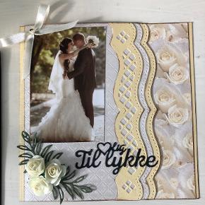 Bryllupskort, str. 14,8 x 14,8 cm, pris 30 kr. + evt. porto. alle mine kort er selvfølgelig inkl. kuvert.
