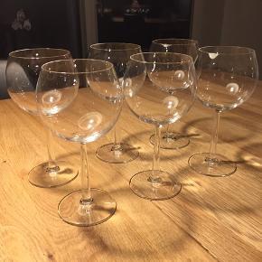 Rosendahl Grand Cru Bourgogne Rødvinsglas - 6 stk - 30 kr pr. stk. = 180 for alle 6 glas. Sælges helst samlet