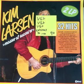 Kim Larsen lp vinyl plade med 32 hits fra Gasolin med mere 2x lp fin fin stand