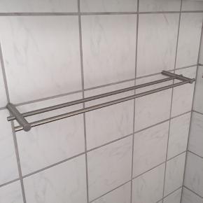2 stk håndklædeholdere i børstet stål 12x 59,5 cm 1 stk 100kr 2 stk 150kr