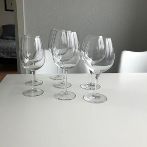 Forskellige str vin glas.