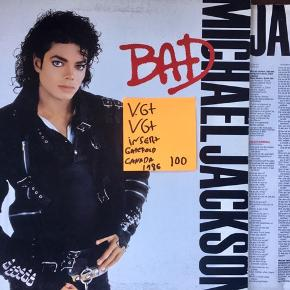 Michael Jackson bad vinyl lp musik og hits super stand