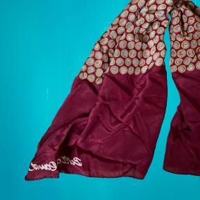Vintage Bitte Kai Rand tørklæde i 100% silke 150x50 cm  Kan bruges om halsen, som top, i håret eller hvad man har lyst til