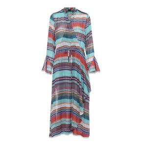 Fantastisk klædelig kjole - slå-om lignende. SÅ fin i farver.  Brugt 2 gange.   Bytter ikke