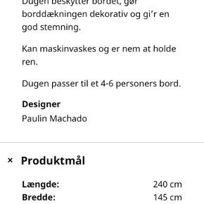 12 hvide duge - kun brugt en enkelt gang til konfirmation. Fra Ikea Fullkomlig, værdi 588,-Sælges samlet for 380,- Mål fremgår af foto 2. Perfekte til barnedåben eller sommerfesten 🥂 Sender gerne - mod betaling af fragt 💁