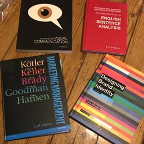 Forskellige bøger, brugt meget lidt. Sælges enkelt eller samlet. Brugt til at læse marketing management og kommunikation.