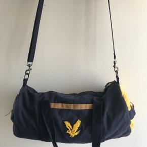 Taske fra Lyle and Scott i mørkeblå og gul