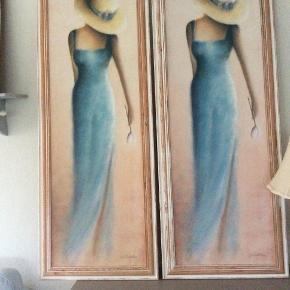 """To flotte billeder med """"fransk kvinde""""  Mindstepris 200 kr for begge billeder  afhentes i Brønderslev"""