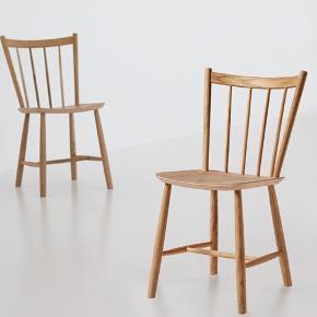 Børge Mogensen J41 stol i bøg Fortid og nutid mødes i stilren komfort  Giv indretningen et løft og lad fortid og nutid mødes med Børge Mogensens ikoniske designklassiker – J41-stolen i ubehandlet bøg.  Børge Mogensens klassiske J41-stol har en let skrå ryg og et komfortabelt sæde.  Stolen er udført i massiv bøg og sædet i bøgefiner, hvilket gør stolen både komfortabel og yderst slidstærk.  Nypris 1798kr