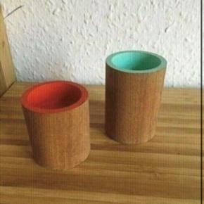 Træ lysestager - 7 og 5,5 h -fast pris -køb 4 annoncer og den billigste er gratis - kan afhentes på Mimersgade 111 - sender gerne hvis du betaler Porto - mødes ikke andre steder - bytter ikke