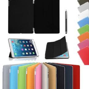 GRATIS LEVERING! Tri-fold læder cover til iPad. Lækkert Tri-fold cover med robust bagside-cover i hård plast og fleksibel læder forside tri-fold cover. Sleep-wake funktion.Fås til iPad 2, 3, 4 og Air 1 og Air 2 og iPad Mini 1, 2, 3, 4, PRO (12.9), PRO (9.7), iPad 2017/2018  INKL: GRATIS FRAGT + TOUCH SCREEN STYLUS PEN + SKÆRMBESKYTTELSESFILM   Vejledende normalpris 129,00 - NU KUN 80,- (GRATIS FRAGT)  TILBUD: Cover + Panserglas DKK 140,- (GRATIS FRAGT)  Fås i følgende farver:  1) TURKIS / LYSEBLÅ 2) SORT 3) GRÅ 4) HVID 5) LILLA 6) PINK / ROSEN-RØD 7) BLÅ 8) GRØN 9) RØD  BEMÆRK: Der kan være farvenuancer i billederne