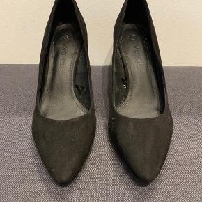 Monki heels, hæl højde 7 cm.