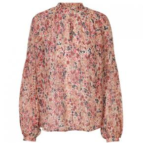 Super smuk bluse med det fineste print. Kan lukkes med 2 små knapper i halsen.  Meget fin stand - kun brugt få gange.   Jeg bytter ikke😊