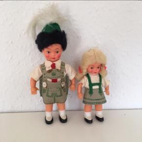 Gl dukker fra Tyrol med det helt rigtige kostume til bierfest   Værtindegave til tyrolerfest temafest  Sender gerne