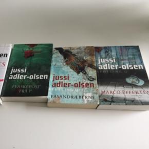 Bøger fra jussi Adler-Olsen   Læst en gang   Pr bog 40 kr eller alle 3 for 100 Ellers BYD !
