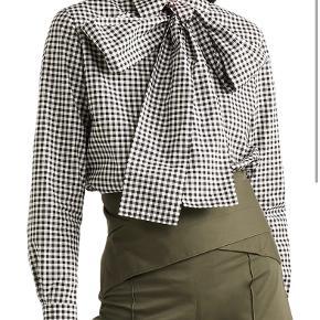 Sara Battaglia skjorte i tern ned sløjfe IT40 svarer til small  ALDRIG BRUGT 100% cotton