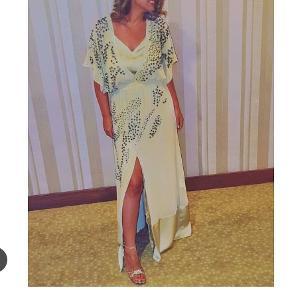 Super elegant malene birger kjole tilhørende underkjole til - slids foran.
