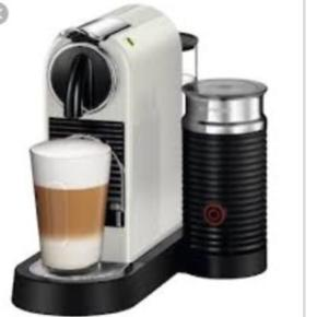 Nespresso citiz & milk maskine, 2 år gammel - fungerer perfekt, sælges kun pga opgradering af Nespresso-maskine.  Nypris 1400 kroner   Afhentes i Esbjerg