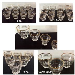Retro glas fra 1980'erne  Fra 3 kr. Stk.