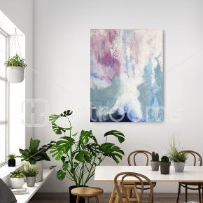 Akrylmaleri på lærred. Måler 80 × 100 cm.  Afhentning i Roskilde.