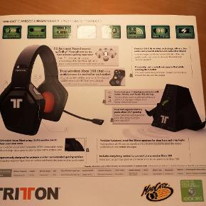 Xbox 360 7.1 trådløs høretelefon. Aldrig brugt. Aldrig pakket ud af kassen