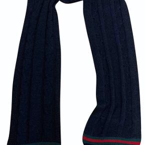Gucci uld unisex tørklæde med logo i bunden 185 cm
