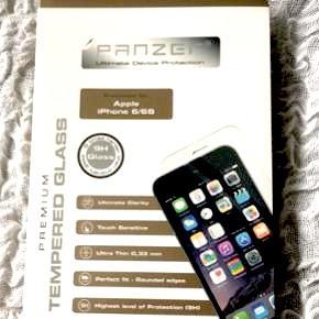 Panzer glas/ panserglas til iPhone 6/6sNp 250kr