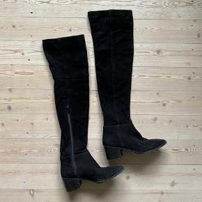 Ægteruskindsstøvler fra H&M  Str 36  Normal pris 1500