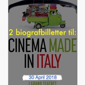 """To billetter til særforestillingen: """"Il Contagio"""" i Grand Teatret den 30 April kl.18.30. (Se billeder)   """"De årlige italienske filmdage vender tilbage til Grand Teatret fra søndag den 29. april til onsdag den 2. maj.  Denne gang byder mini-festivalen, under navnet Cinema Made in Italy, på otte film over 4 dage""""  ******Filmens instruktører vil være til stede ved visningen******  Gode pladser i sal 1 , række 8 midtfor.  Samlet værdi: 180 kr.  Sælges samlet til: 120 kr.  👉🏼BEMÆRK: filmen vises kun dén dag og kun i Grand Teatret.  Bytter ikke."""