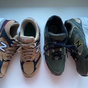 Der står 40,5 i skoene - men de svarer til 40 Begge par har været på en enkel gang. Kommer i original æske. Pris pr. par 550,- begge for 1000,- NB X90 og NB WX452