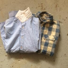 Lyseblå skjorte i str m Ternet skjorte i str s  Begge som godt som ny